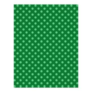 """Green polka dots 8.5"""" x 11"""" flyer"""