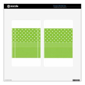 Green Polka-dots Kindle Fire Decal
