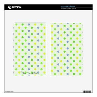 Green Polka Dots Kindle Fire Skin