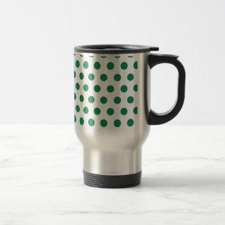 Green Polka Dots Coffee Mug