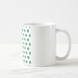 Green Polka Dots Mug