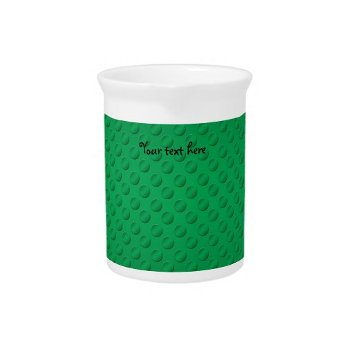 Green polka dots on green background beverage pitcher