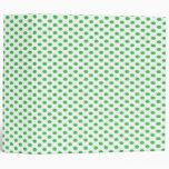 Green Polka Dots on White Binders