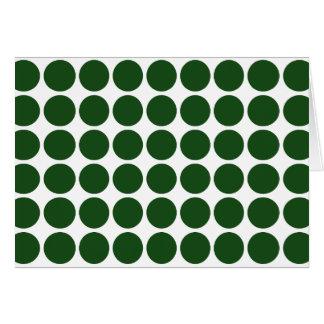 Green Polka Dots on White Card