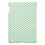 Green Polka Dots on White iPad Mini Covers