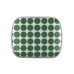Green Polka Dots on White Jelly Belly Candy Tins