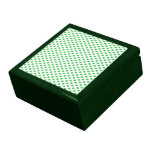 Green Polka Dots on White Jewelry Boxes