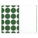 Green Polka Dots on White Journals