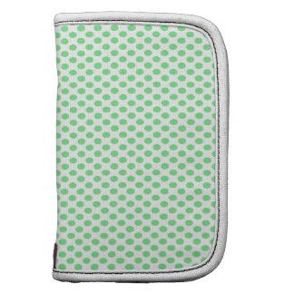 Green Polka Dots on White Organizers