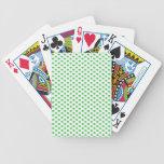Green Polka Dots on White Poker Deck