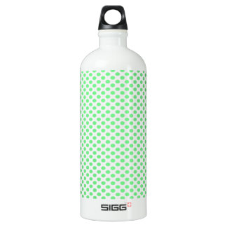 Green Polka Dots on White SIGG Traveler 1.0L Water Bottle