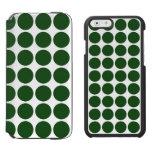 Green Polka Dots on White Incipio Watson™ iPhone 6 Wallet Case