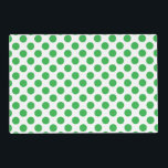 """Green Polka Dots Placemat<br><div class=""""desc"""">This design is available on more products! Click the 'Available On' Link on this Product page to see them all! Be sure to check out all options to customize your selection! For example, this image file is a PNG file with no set background color, therefore, you can totally change the...</div>"""