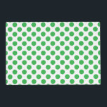 "Green Polka Dots Placemat<br><div class=""desc"">This design is available on more products! Click the 'Available On' Link on this Product page to see them all! Be sure to check out all options to customize your selection! For example, this image file is a PNG file with no set background color, therefore, you can totally change the...</div>"
