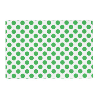 Green Polka Dots Placemat