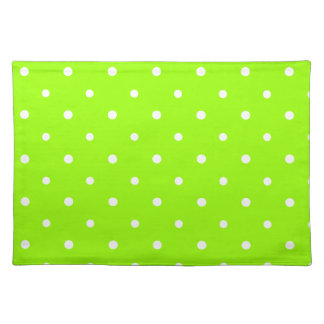 Green Polka Dots Placemat Cloth Placemat