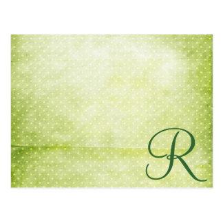 Green Polka Dots Postcard
