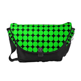Green Polka Dots Rickshaw Messenger Bag