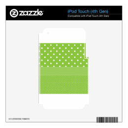 Green Polka-dots Skins For iPod Touch 4G