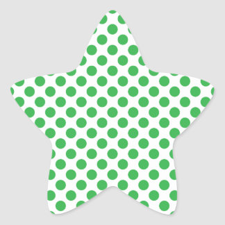 Green Polka Dots Star Sticker