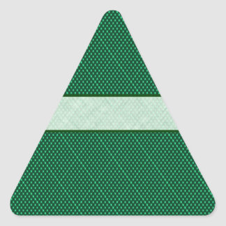 Green Polka Dots Triangle Sticker