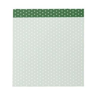 Green Polkadot Notepad