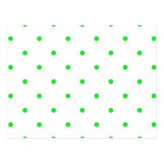 Green Polkadots Small Postcard
