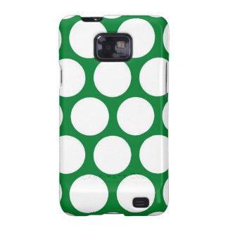 Green Polke Dot Samsung Galaxy S2 Case