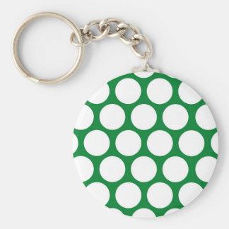 Green Polke Dot Key Chains