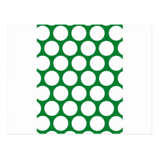 Green Polke Dot Postcard