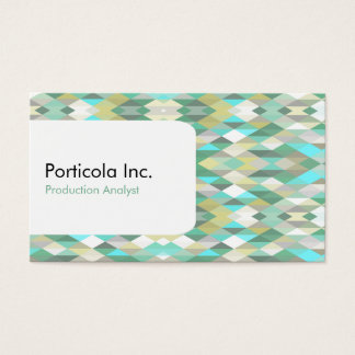 Green Polygon Diamond Geometric Business Cards
