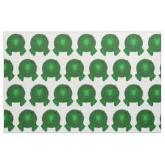 Green Pom Pom Pal with Holly Bow Fabric