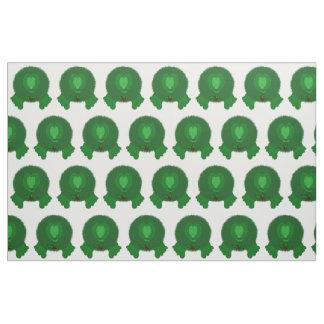 Green Pom Pom Pal with Holly Tie Fabric