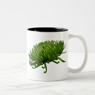 Green pompon Two-Tone coffee mug