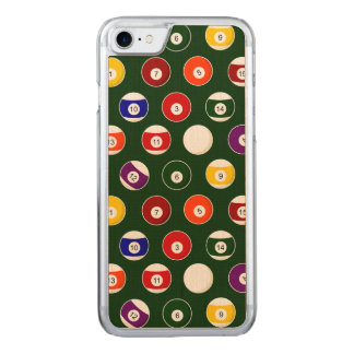 Green Pool Ball Billiards Pattern Carved iPhone 7 Case