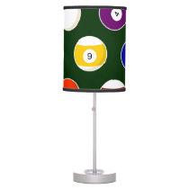 Green Pool Ball Billiards Pattern Desk Lamp