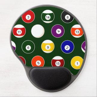 Green Pool Ball Billiards Pattern Gel Mouse Pad
