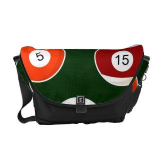 Green Pool Ball Billiards Pattern Messenger Bag