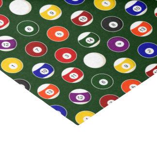 Green Pool Ball Billiards Pattern Tissue Paper