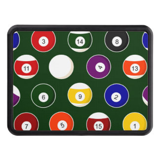 Green Pool Ball Billiards Pattern Tow Hitch Cover