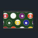 "Green Pool Ball Billiards Pattern Wristlet Purse<br><div class=""desc"">Green Pool Ball Billiards Pattern</div>"