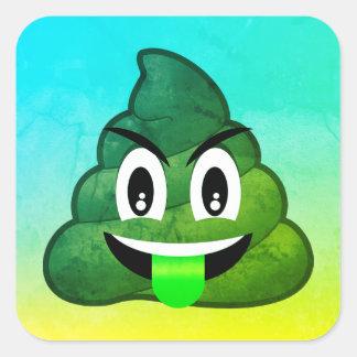Green Poop Emoji Ombre Stickers