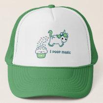 Green Pooping Unicorn Trucker Hat