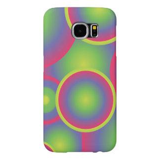 Green Pop Art Circles Samsung Galaxy S6 Cases