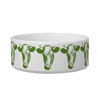 Green Pop Art Cow Bowl