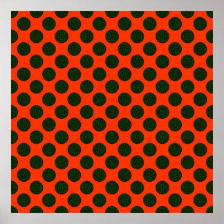 Green pop art pattern poster