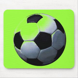 Green Pop Art Soccer Ball Mousepad