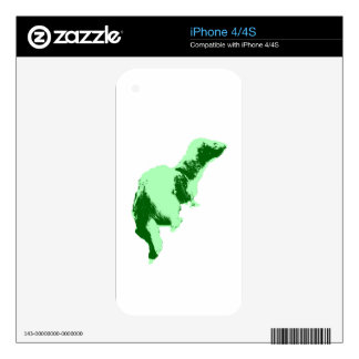 green pop ferret.jpg iPhone 4 skin