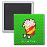Green Popcorn 2 Inch Square Magnet
