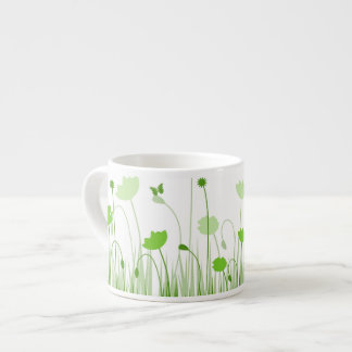 Green poppies Espresso Mug
